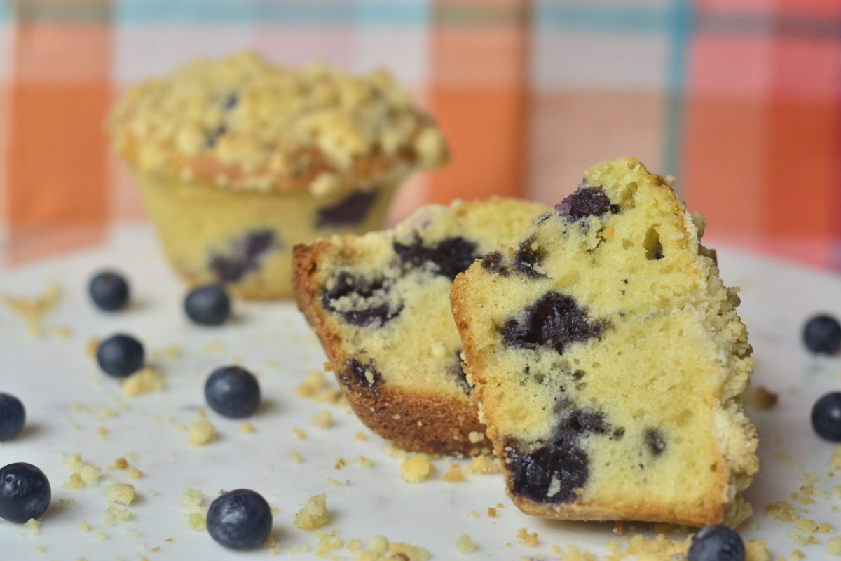 Olive Oil Blueberry Muffins